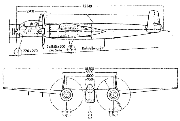 He 219 factory drawing from handbook